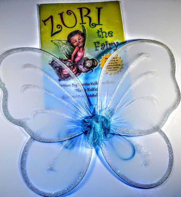 Baby Blue Fairy Wings & Zuri Book