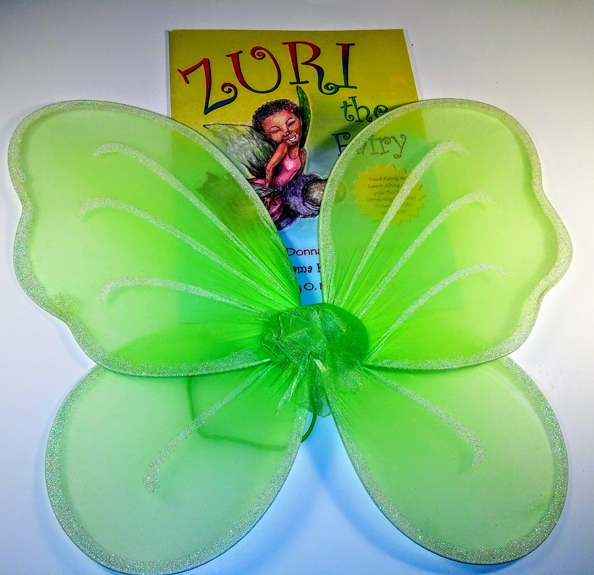 Green Fairy Wings & Zuri Book