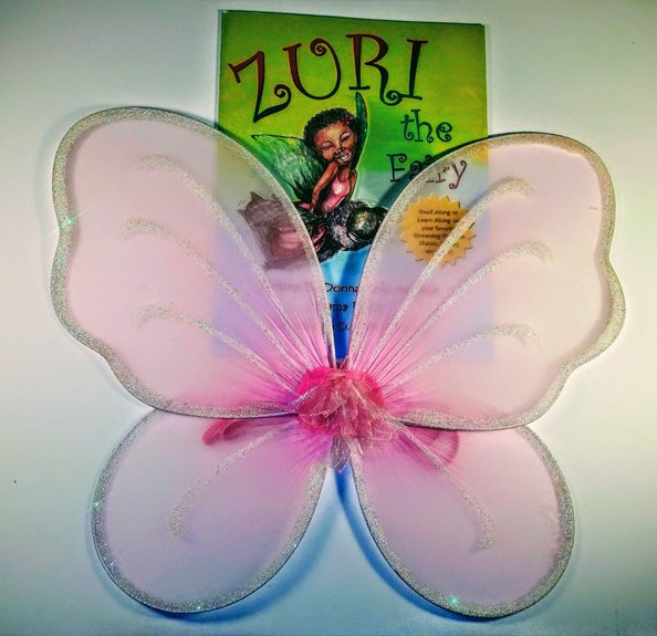 Pink Fairy Wings & Zuri Book