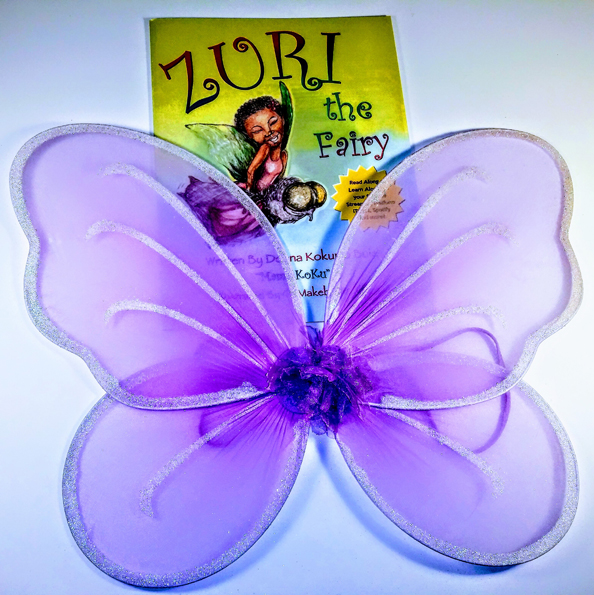 Purple Fairy Wings & Zuri Book